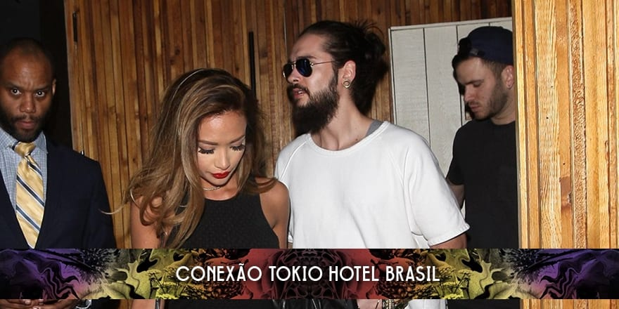 Bill e Tom Kaulitz com Ria Sommerfeld no The Nice Guy (03.04.2016)