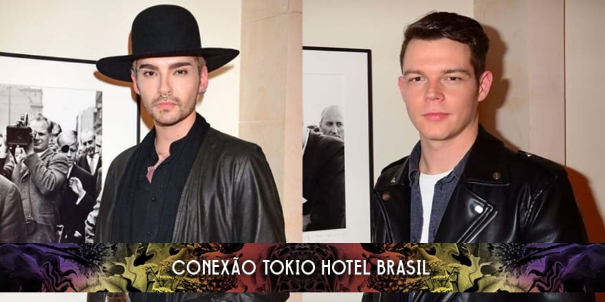 Bill Kaulitz e Georg Listing no Prof. Jochen Blume Vernissage (13.01.2016)