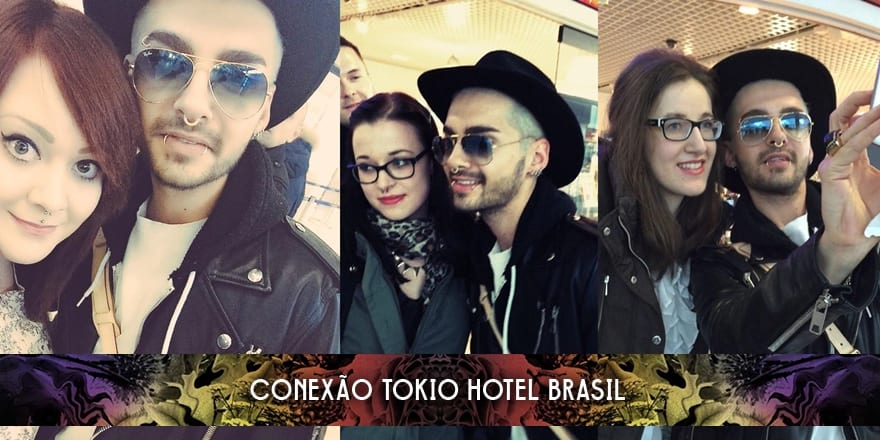 Bill Kaulitz com fãs nos aeroportos de Berlin e Munique (12.02.2015)