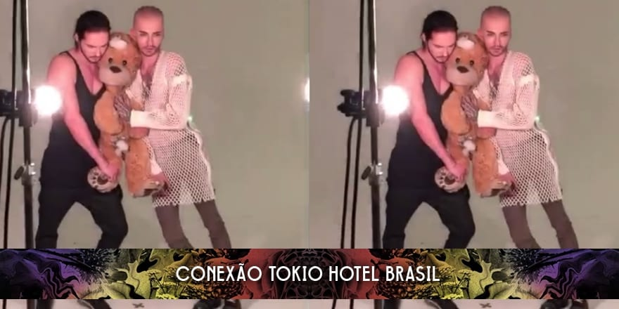 "Bastidores: Bill e Tom Kaulitz para revista ""L'Officiel Hommes"" (24.10.2014)"