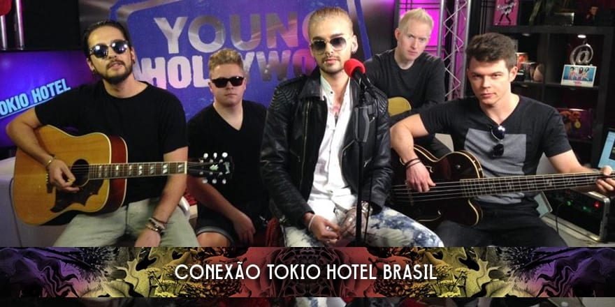 Tokio Hotel gravando no Young Hollywood (08.01.2015)