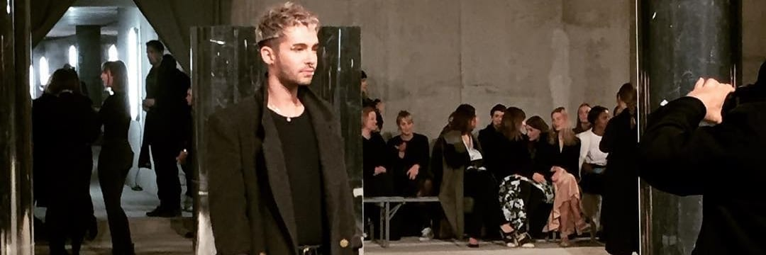 Bill Kaulitz no desfile Malaika Raiss (17.01.2017)