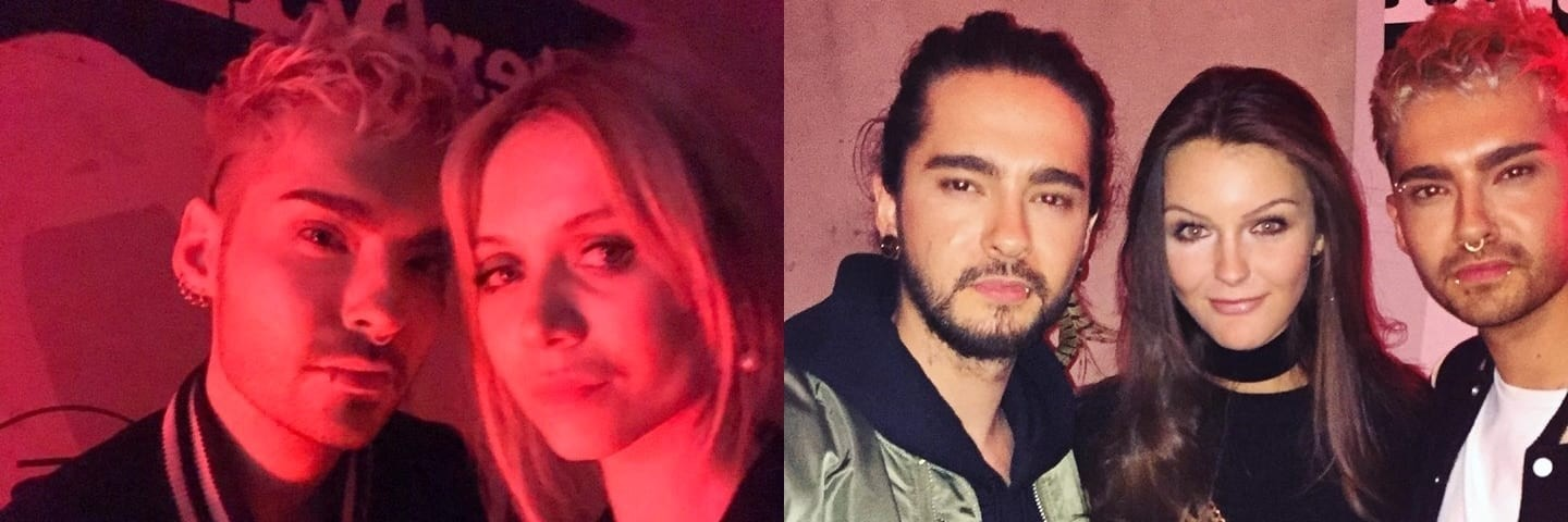 Bill e Tom Kaulitz na festa da Interview Magazine (08.02.2017)